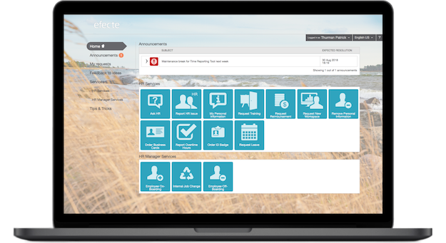 HR Service Management self-service portal