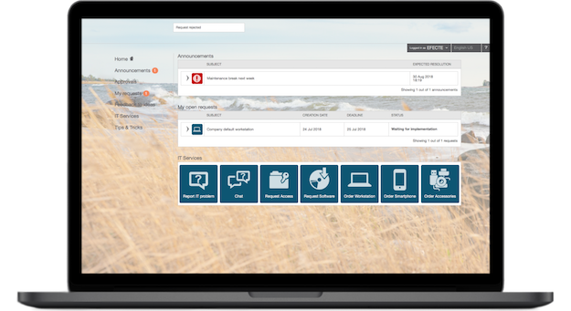IT Service Management tool with intuitive self-service portal