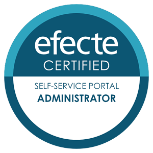 Certification badge Self-Service Portal