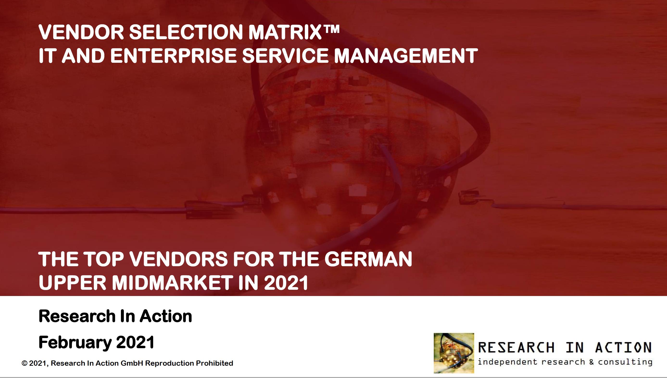 RIA Vendor Selection Matrix 2021