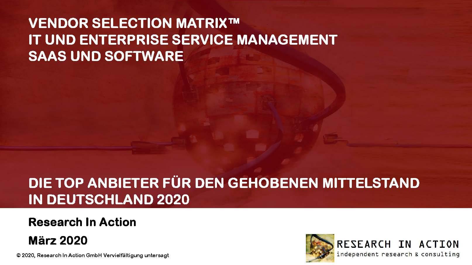ITSM-Marktstudie Deutschland 2020
